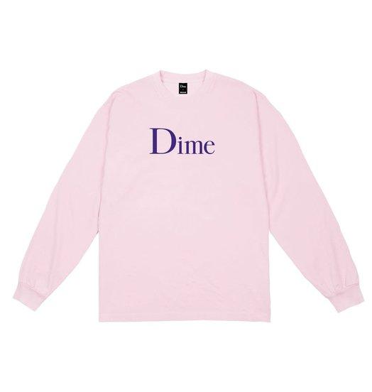 Dime Dime Classic Logo L/S T-Shirt Light Pink
