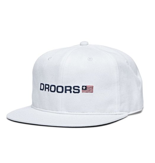 Droors Droors Flag One Snapback Hat - Bright White