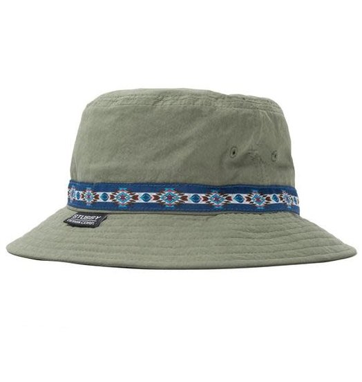 Stussy Stussy Woven Tape Bucket Hat - Olive
