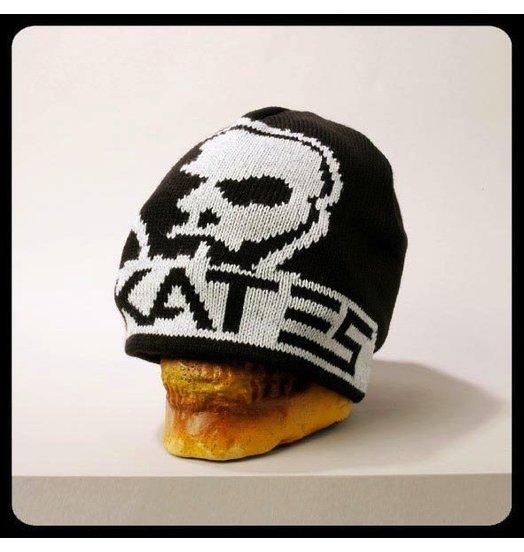 Skull Skates Skull Skates Woven Logo No Cuff Beanie - Black