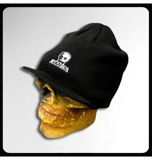 Skull Skates Skull Skates Small Embroidered Visor Beanie - Black