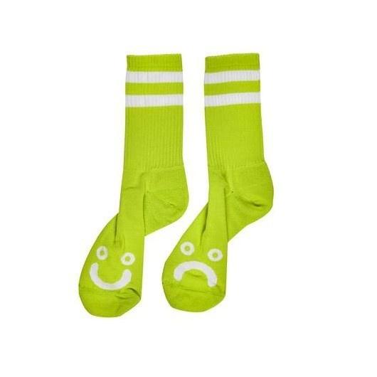 Polar Polar Happy Sad Socks - Lime