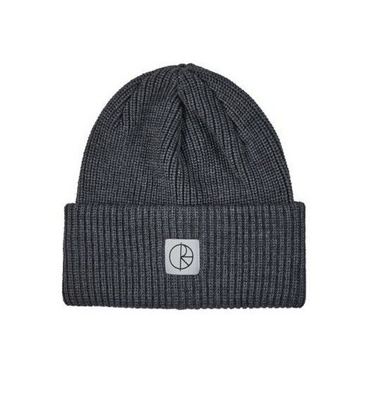 Polar Polar Double Fold Merino Beanie - Heather Grey