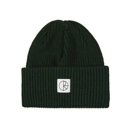 Polar Polar Double Fold Merino Beanie - Dark Green
