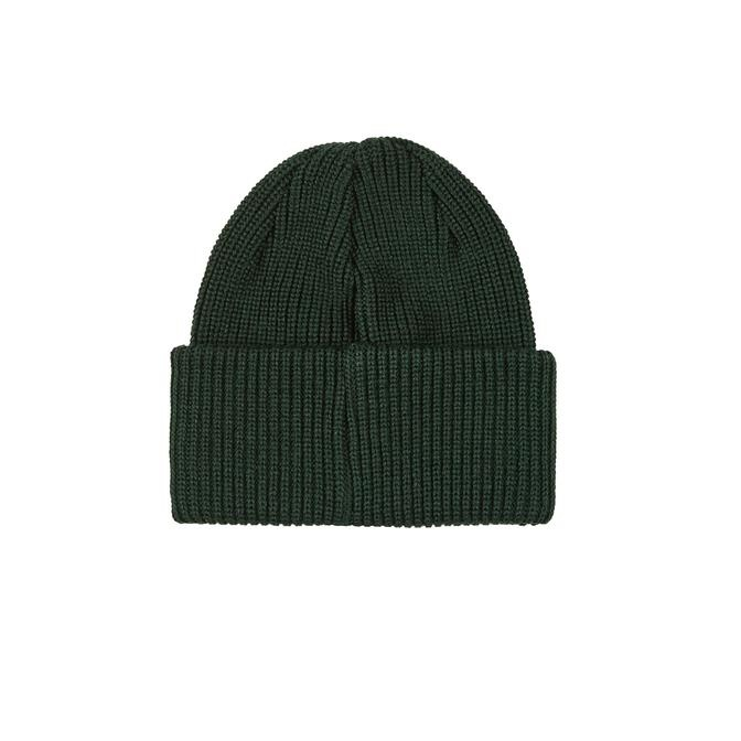 Polar Polar Double Fold Merino Beanie - Dark Green