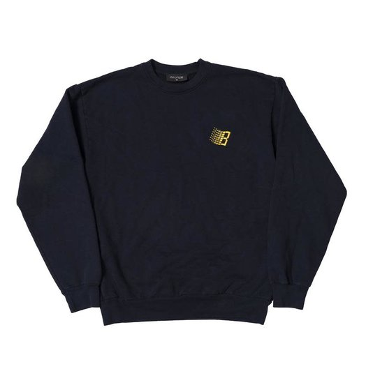 Bronze 56K Bronze 56K Embroidered B Logo Crewneck - Navy