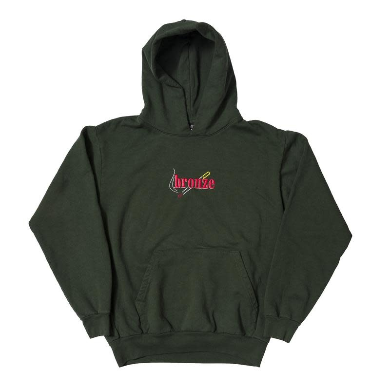 Bronze 56K Bronze 56K Embroidered Smoke Hoodie - Green