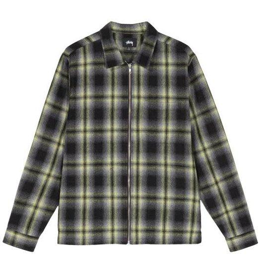 Stussy Stussy Gunn Plaid Zip Up LS Shirt - Black