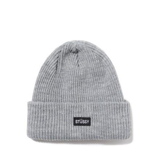 Stussy Stussy Patch Watch Cap Beanie - Grey Heather