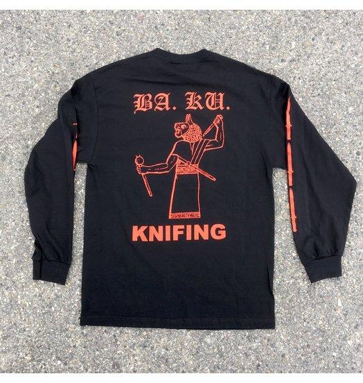 BA.KU. BA.KU. Knifing Longsleeve - Black/Red