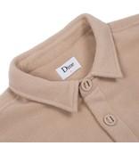 Dime Dime Polar Fleece Button Up Shirt - Cream