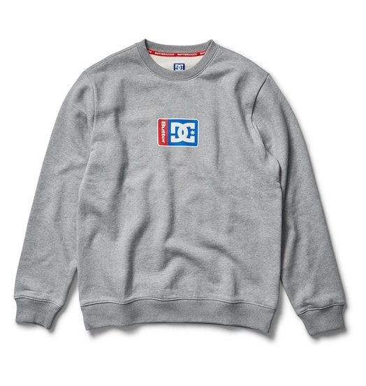 DC DC X Butter Goods Block Crew - Steel Gray