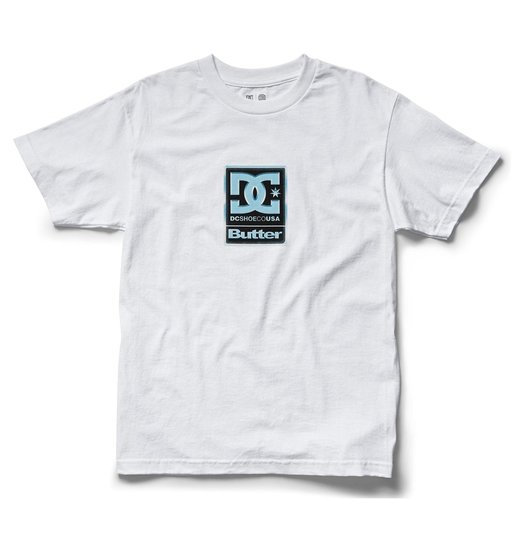 DC DC X Butter Goods Badge Tee - Bright White