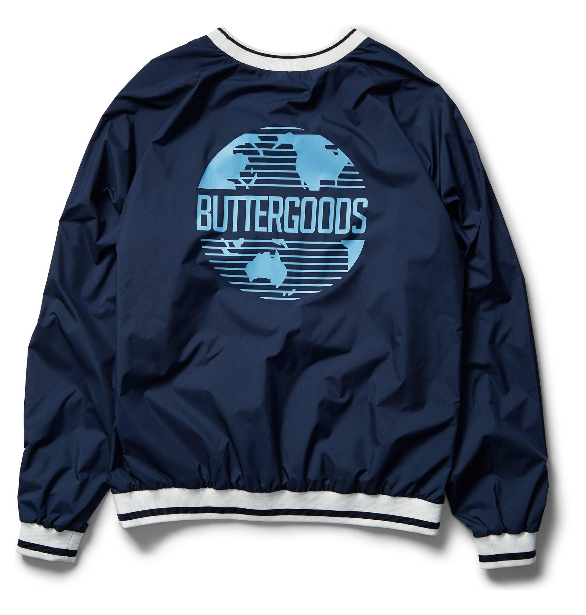 DC DC X Butter Goods Knick Nylon Pullover - Navy