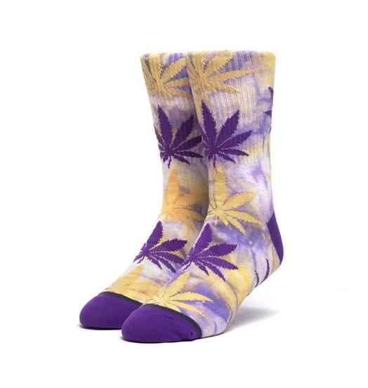HUF Huf Tie Dye Plantlife Socks - Ultra Violet