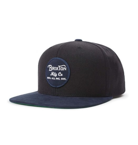 Brixton Brixton Wheeler Snapback - Black/Washed Navy