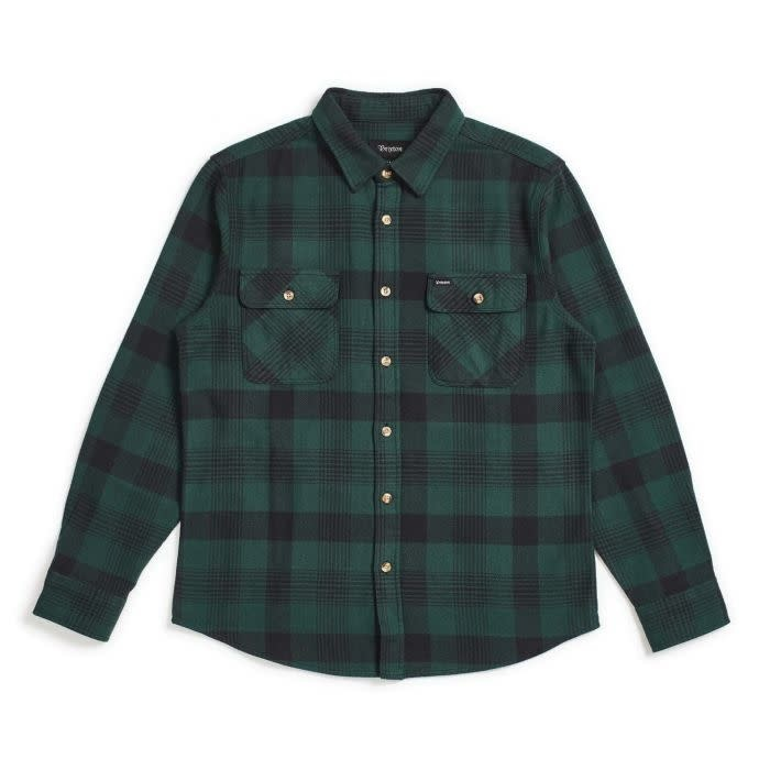 Brixton Brixton Bowery Flannel - Black/Green