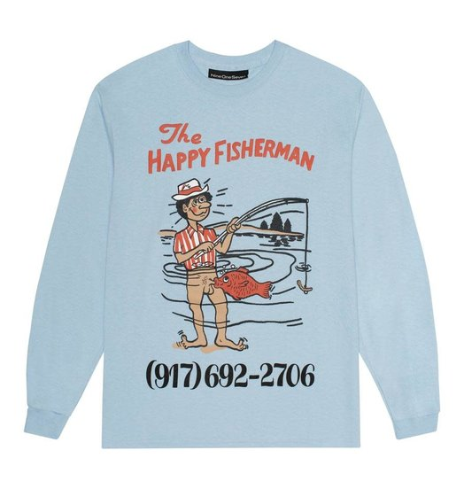 Call Me 917 Call Me 917 Happy Fisherman Longsleeve - Light Blue