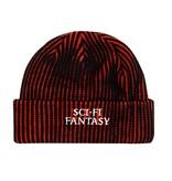 Sci-Fi Fantasy Sci-Fi Fantasy Striped Logo Beanie - Black/Orange