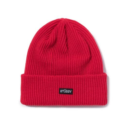 Stussy Stussy Small Patch Watchcap Beanie - Red