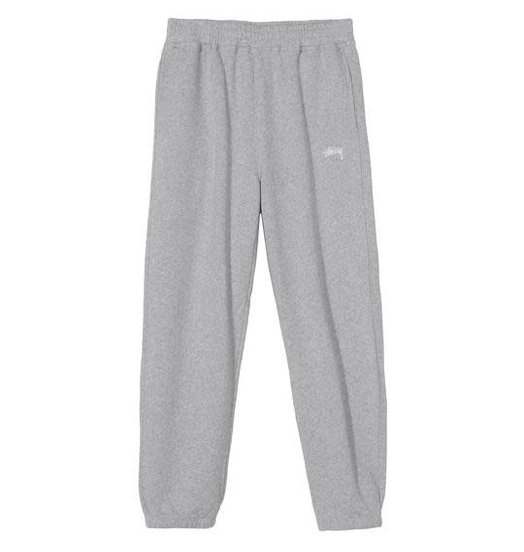 Stussy Stussy Stock Fleece Pant - Grey Heather