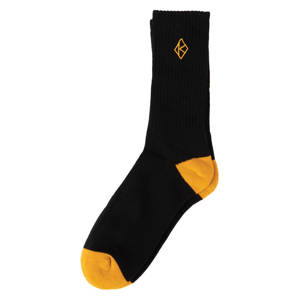 Krooked Krooked Diamond Sock - Black/Gold