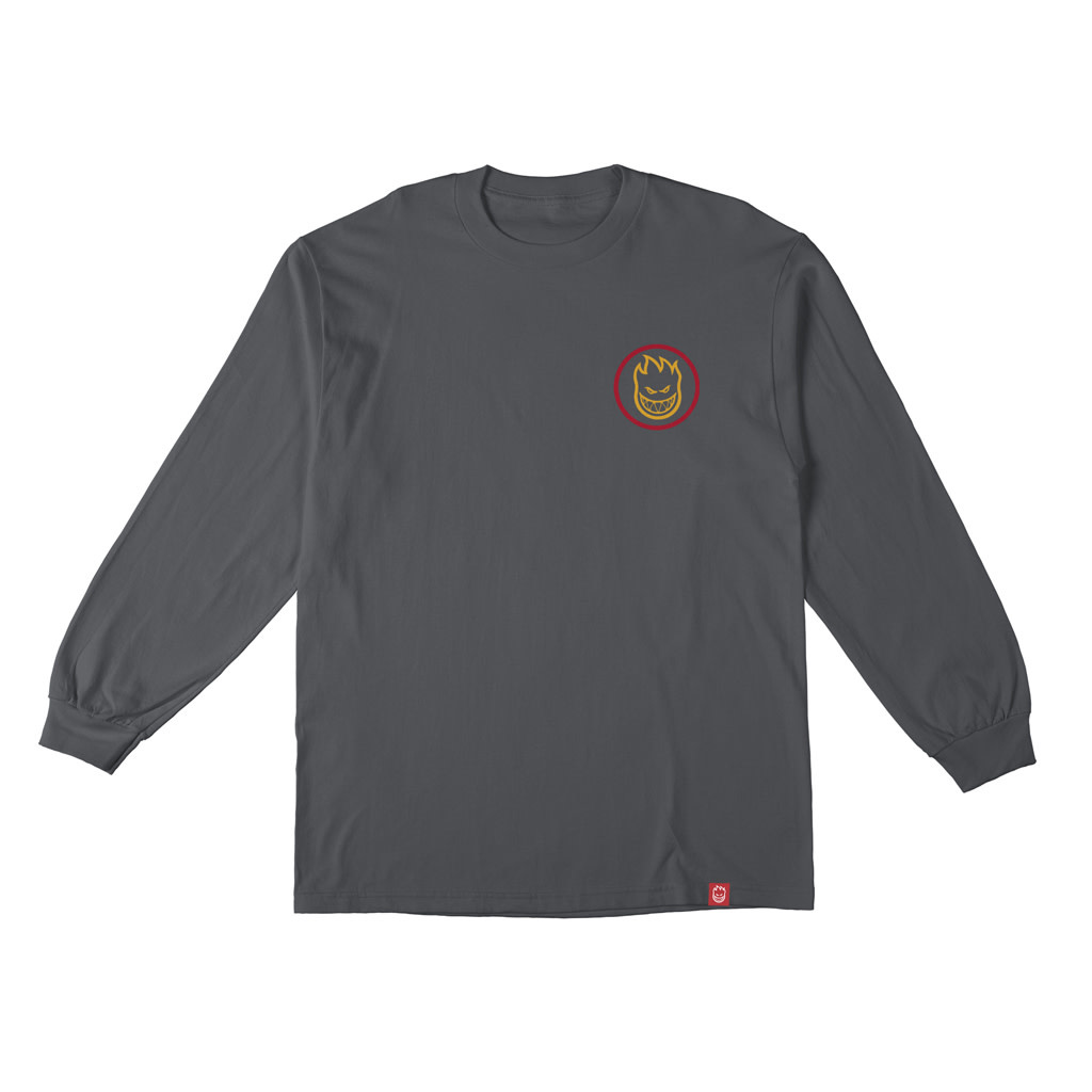 Spitfire Spitfire Classic Swirl Fade Longsleeve - Charcoal/Red/Gold