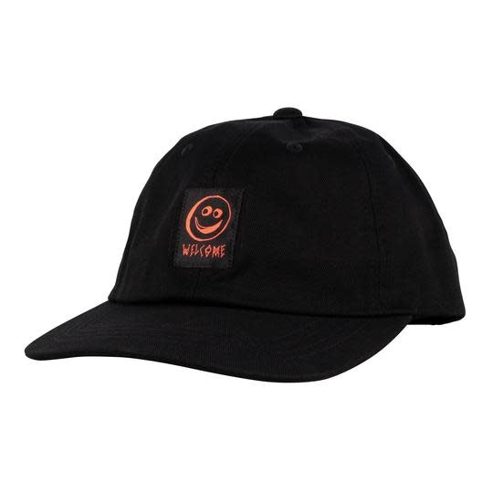 Welcome Welcome Smiley Unstructured Snapback - Black