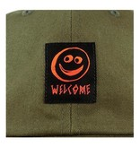 Welcome Welcome Smiley Unstructured Snapback - Olive