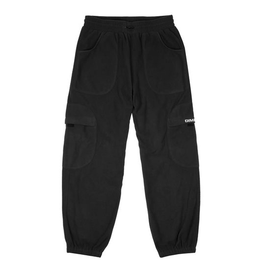Dime Dime Fleece Round Cargo Pants - Black