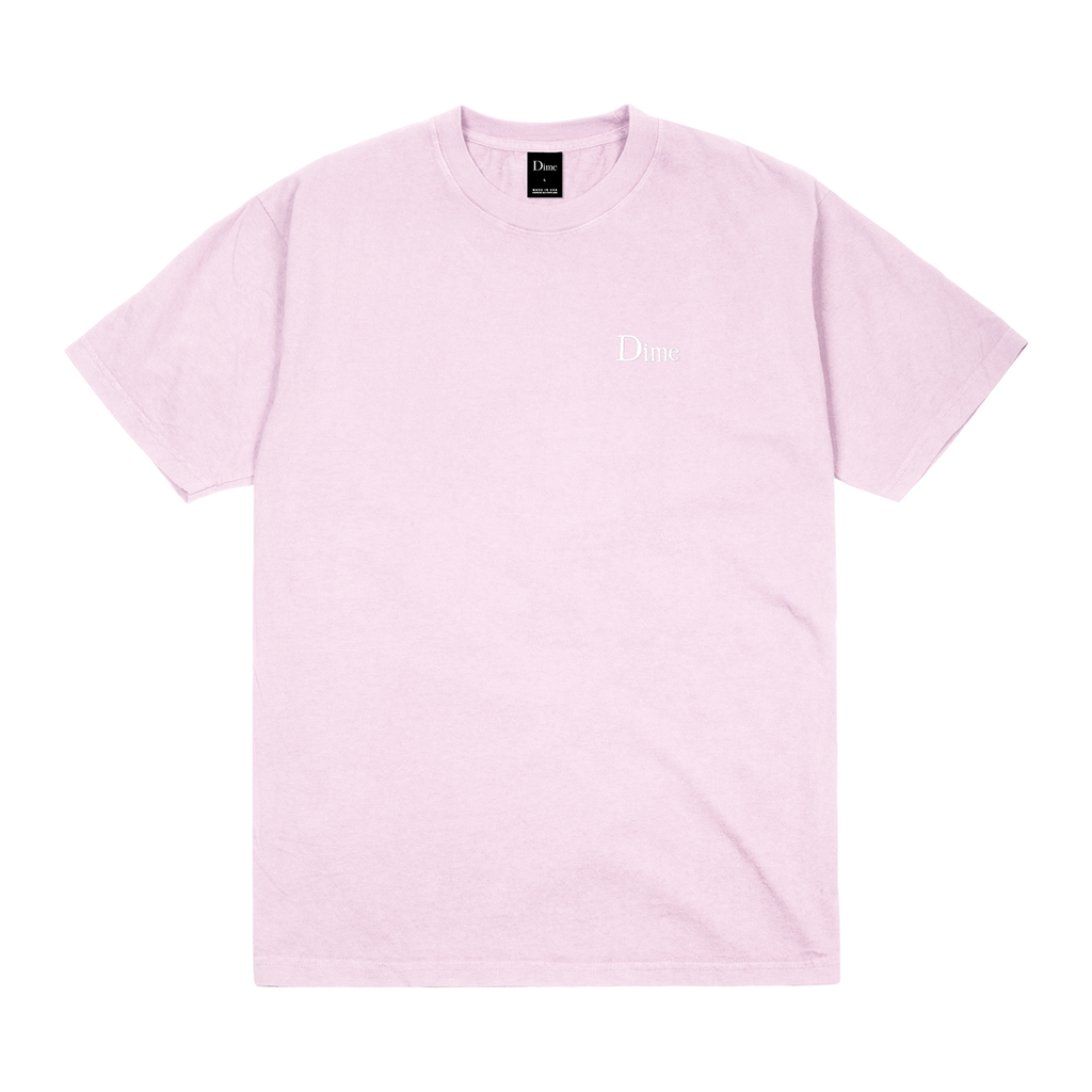 Dime Dime Classic Embroidered Tee - Light Pink
