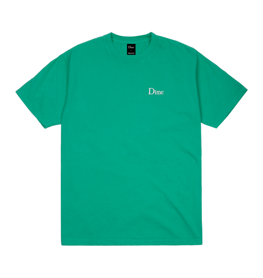 Dime Dime Classic Embroidered Tee - Emerald