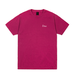 Dime Dime Classic Embroidered Tee - Ruby