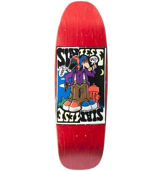 New Deal New Deal Siamese Doublekick Deck Red - 9.625
