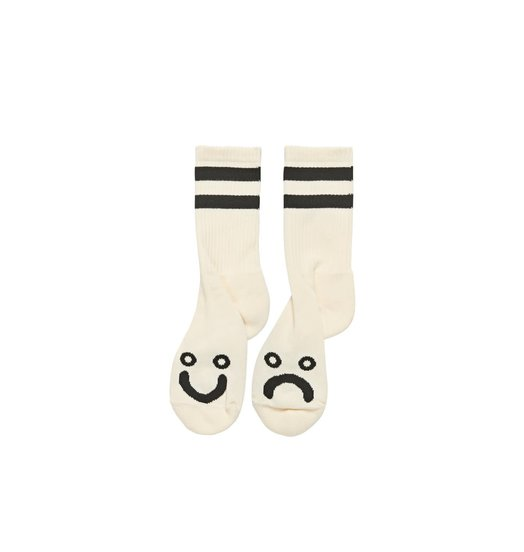 Polar Polar Happy Sad Sock - Ivory