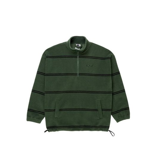 Polar Polar Striped Fleece Pullover 2.0 - Olive