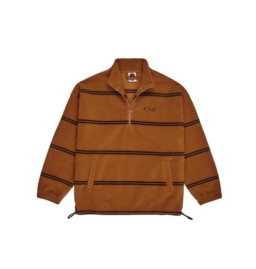 Polar Polar Striped Fleece Pullover 2.0 - Caramel