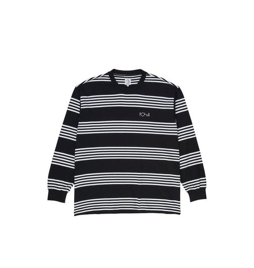 Polar Polar Striped Longsleeve Tee - Black