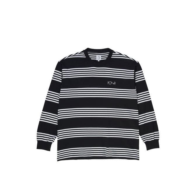 Polar Polar Striped Longsleeve Tee - Black