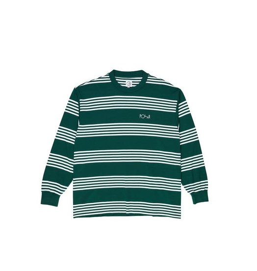Polar Polar Striped Longsleeve Tee - Dark Green