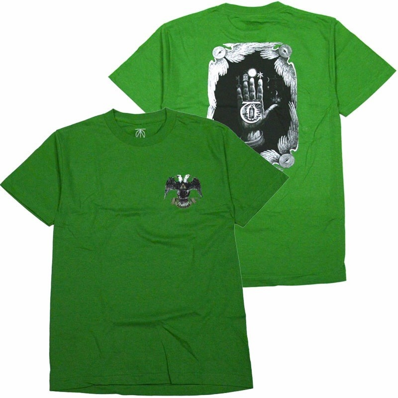 Theories Theories Hand Of Theories Heavy Duty Tee - Kelly Green
