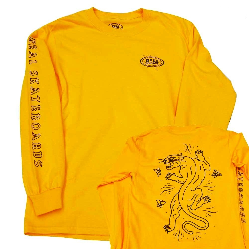 Real Real Cat Scratch Longsleeve - Gold