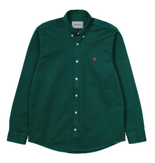 Carhartt WIP Carhartt WIP Madison Shirt - Dark Fir/Merlot