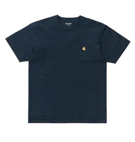 Carhartt WIP Carhartt WIP Chase Tee - Duck Blue/Gold
