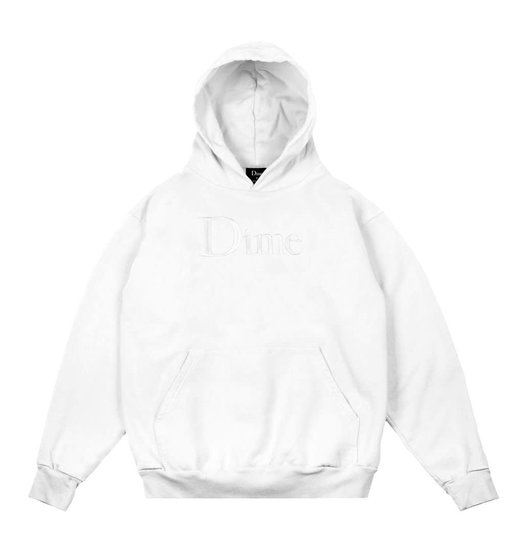 Dime Dime Classic Embroidered Hoodie - White