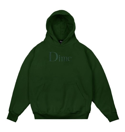 Dime Dime Classic Embroidered Hoodie - Ivy