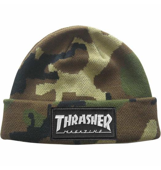 Thrasher Thrasher Logo Patch Beanie - Camo