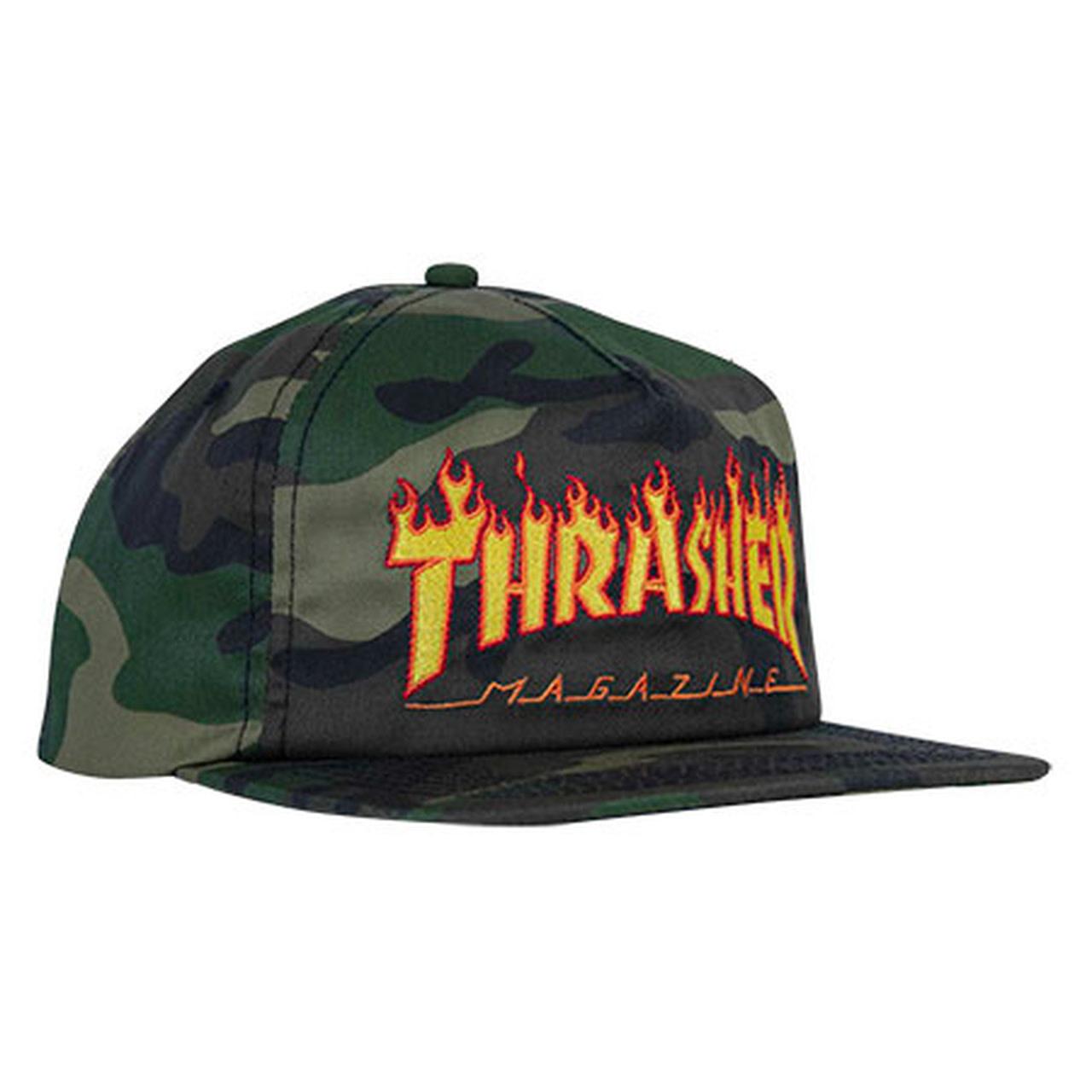 Thrasher Thrasher Flame Logo Snapback - Camo