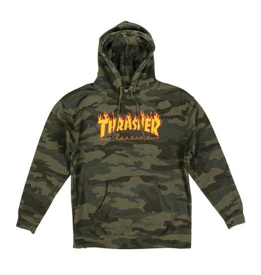 Thrasher Thrasher Flame Logo Hoodie - Forest Camo
