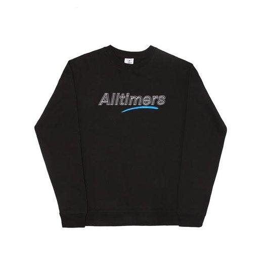 Alltimers Alltimers Dashed Crewneck - Black